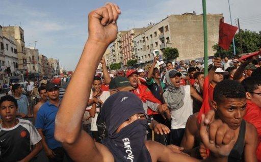 Des Marocains manifestent dans Casablanca, le 19 juin 2011 AFP/Archives Abdelhak Senna