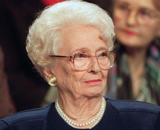 Légyptologue et écrivain,Christiane Desroches-Noblecourt le 14 octobre 1992 à Paris AFP/Archives JOEL ROBINE