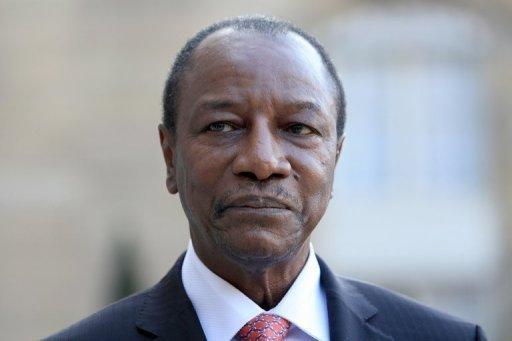 Le président guinéen Alpha Condé, le 23 mars 2011 à l'Elysée, à Paris AFP/Archives Johanna Pyneeandee