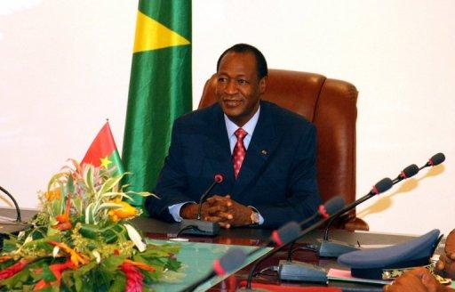 Le président burkinabè Blaise Compaoré, le 1er avril 2011 à Ouagadougou AFP/Archives Ahmed Ouoba