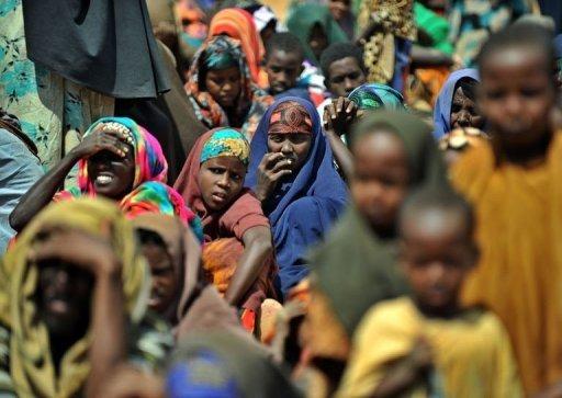 Des réfugiés somaliens arrivés récemment dans le camp de Dadaab au Kénya, le 23 juillet 2011 AFP Tony Karumba