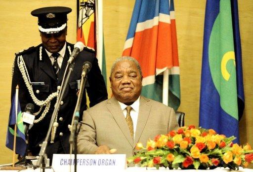 Le président zambien Rupiah Banda à Livingstone, Zambie, le 31 mars 2011 AFP/Archives Stephane de Sakutin