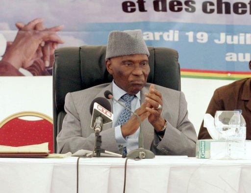 Le président sénégalais Abdoulaye Wade, le 19 juillet 2011 à Dakar AFP/Archives Moussa Sow