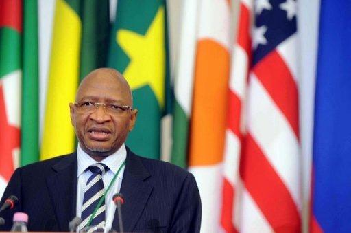 Le ministre malien des Affaires étrangères Soumeylou Boubey Maiga s'exprime le 7 septembre 2011 à Alger lors de la conférence sur le Sahel AFP Farouk Batiche