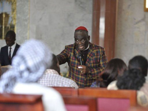 L'apôtre Jean Assemian le 21 août 2011, à Abidjan en Côte d'Ivoire AFP Sia Kambou