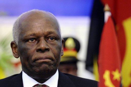 Le président angolais Jose Eduardo Dos Santos, le 17 août 2011 à Luanda AFP/Archives Stephane de Sakutin