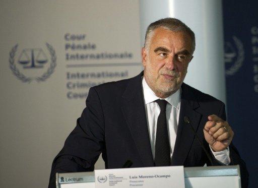 Le procureur Luis Moreno-Ocampo le 16 mai 2011 à La Haye AFP/Archives Robert Vos