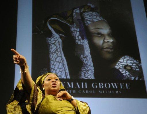 Leymah Gbowee, lauréate du prix Nobel de la paix, le 7 octobre 2011 à New York AFP Timothy A. Clary