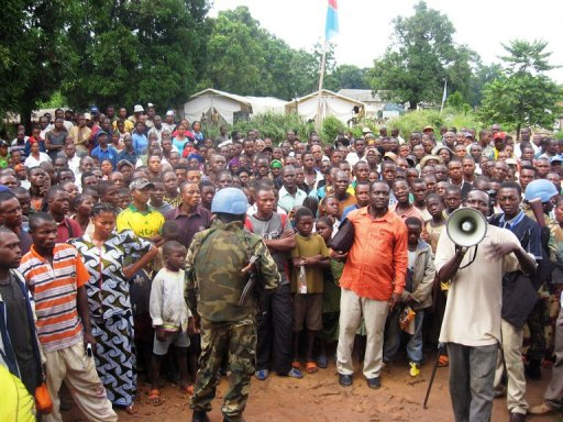 Des habitants de Dongo réfugiés le 21 juillet 2010 en République démocratique du Congo AFP/Archives Emmanuel Peuchot