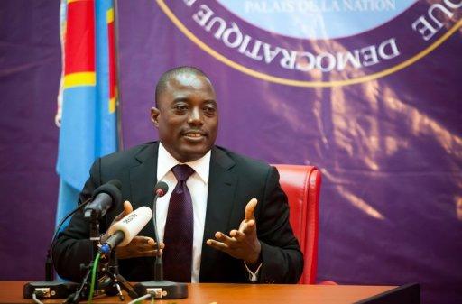 Le président de la République démocratique du Congo, Joseph Kabila, candidat à la présidentielle, le 18 octobre 2011 AFP Gwenn Duborthomieu