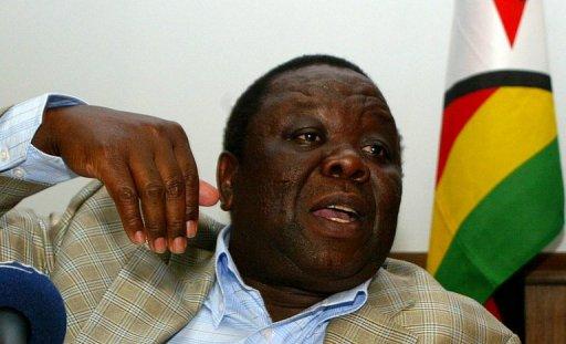 Le Premier ministre zimbabwéen Morgan Tsvangirai, le 28 septembre 2011 à Harare AFP/Archives Jekesai Njikizana