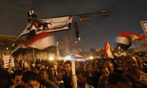 Des milliers de manifestants rassemblés place Tahrir, le 24 novembre 2011 au Caire AFP Mahmud Hams