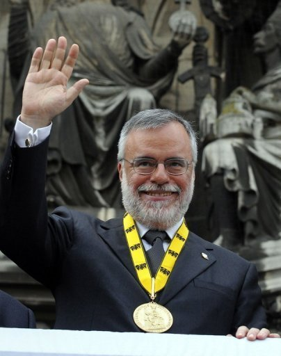 Andrea Riccardi, le fondateur de la communauté Sant'Egidio, le 21 mai 2009 à Aachen, en Allemagne DDP/AFP/Archives Henning Kaiser