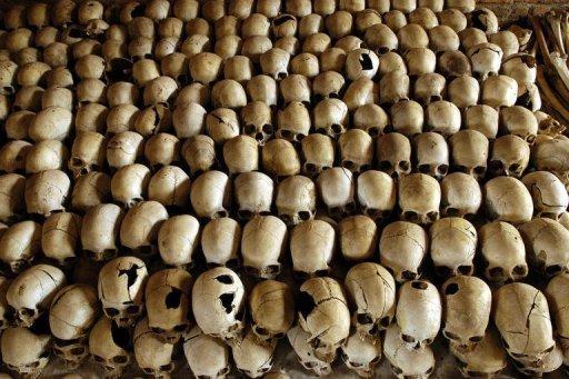 Des crânes de victimes du génocide rwandais au Mémorial de Ntarama AFP/Archives Gianluigi Guercia