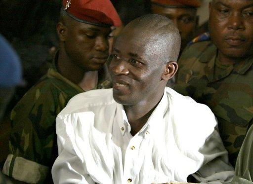 Le policier ivoirien Théodore Dago Séri le 20 janvier 2004 à Abidjan AFP/Archives Georges Gobet