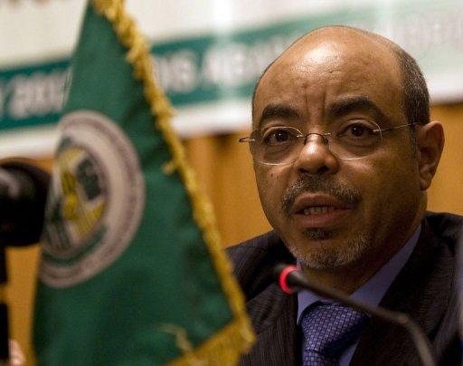 Le Premier ministre éthiopien Meles Zenawi, le 27 janvier 2012 à Addis Abeba AFP Tony Karumba