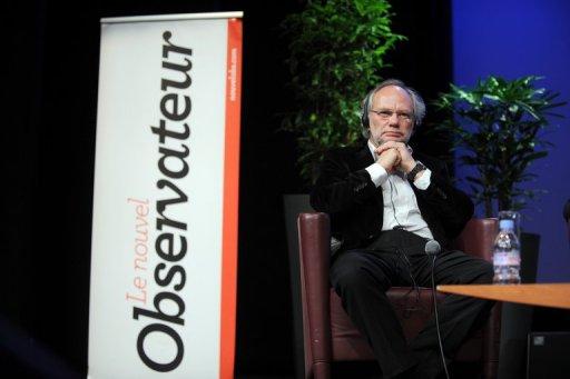 Le rédacteur en chef du Nouvel Observateur Laurent Joffrion lors d'une conférence le 20 janvier 2012 AFP/Archives Frank Perry