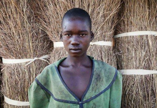 Agnès Lokot, 15 ans, l'un des 3.000 enfants atteints de la