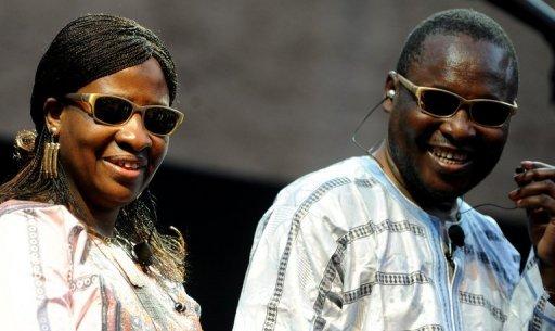 Le duo Amadou et Mariam aux thermes de Caracalla à Rome, le 27 juin 2011 AFP/Archives Tiziana Fabi