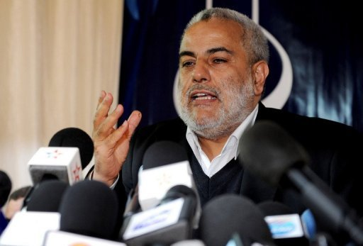 Abdelilah Benkirane, chef du gouvernement marocain, le 27 novembre 2011 à Rabat AFP/Archives Abdelhak Senna