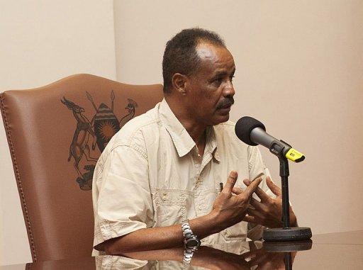 Le président erythréen Issaias Afeworki, le 19 août 2011 à Entebbe AFP/Archives Michèle Sibiloni