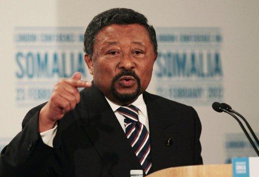 Jean Ping, président de la commission de l'Union africaine (UA), à Londres le 23 février 2012 AFP/Archives Peter Macdiarmid