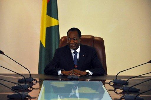 Le président burkinabè Blaise Compaoré à Ouagadougou, le 2 mai 2012 AFP/Archives Ahmed Ouoba