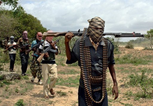 Des insurgés islamistes shebab près d'Afgoye, en Somalie AFP/Archives Abdirashid Abdulle Abikar
