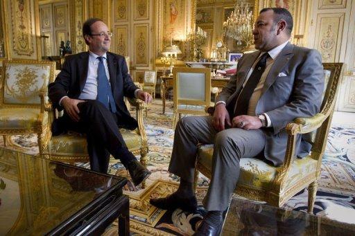 François Hollande et Mohammed VI, roi du Maroc, le 24 mai 2012 à l'Elysée, à Paris AFP Joel Saget
