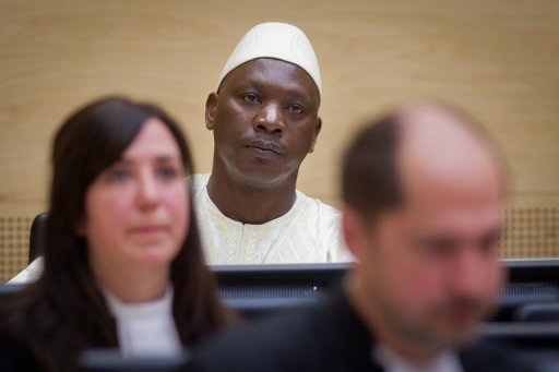 L'ex-chef de milice congolais Thomas Lubanga, lors de son procès devant la CPI, le 14 mars 2012 à La Haye Pool/AFP/Archives Evert-Jan Daniels