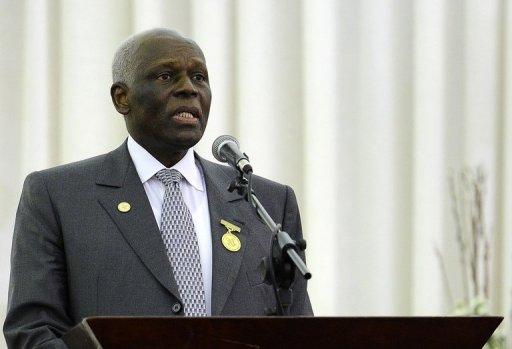 Le président angolais José Edouardo dos Santos, le 18 août 2011 à Luanda AFP/Archives Stephane de Sakutin
