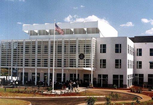 L'ambassade américaine à Nairobi, au Kenya AFP/Archives