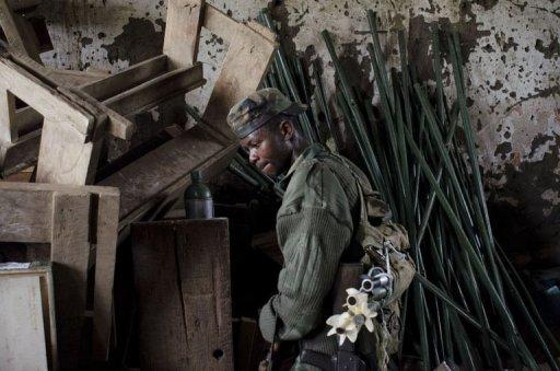 Un combattant rebelle du M23 à Bunagana, en République démocratique du Congo, le 7 juin 2012 AFP Michele Sibiloni