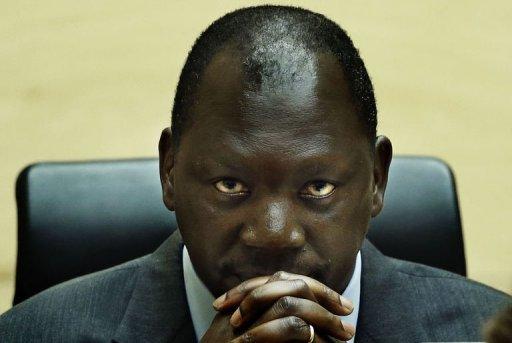 L'ancien chef de milice congolais Thomas Lubanga écoute le 10 juillet 2012 le jugement de la CPI à La Haye ANP/AFP Jerry Lampen
