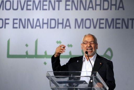 Le chef d'Ennahda Rached Ghannouchi le 12 juillet 2012 à Tunis AFP Fethi Belaid
