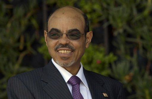 Le Premier ministre éthiopien, Meles Zenawi, le 18 juin 2012 à Los Cabos, au Mexique AFP/Archives Cris Bouroncle