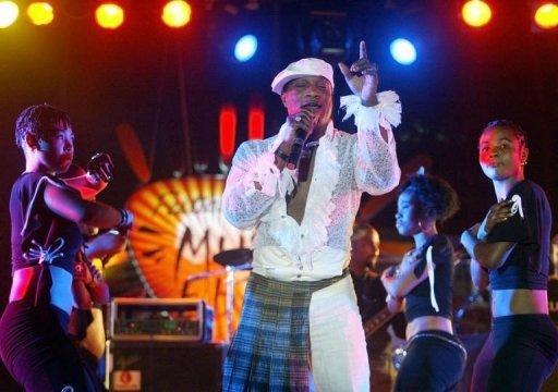 Le chanteur congolais Koffi Olomide le 30 avril 2005 à Dakar AFP/Archives Seyllou