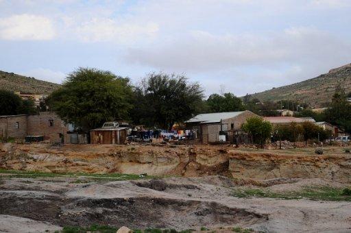 Le village de mineurs de Kommaggas, en Afrique du Sud le 6 juillet 2012 AFP/Archives Alexander Joe