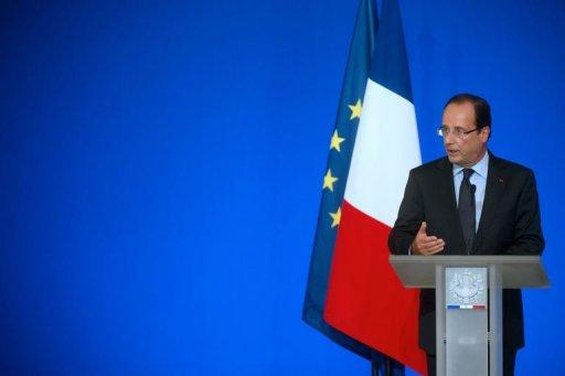 François Hollande s'adresse aux ambassadeurs le 27 août 2012 à Paris AFP Bertrand Langlois