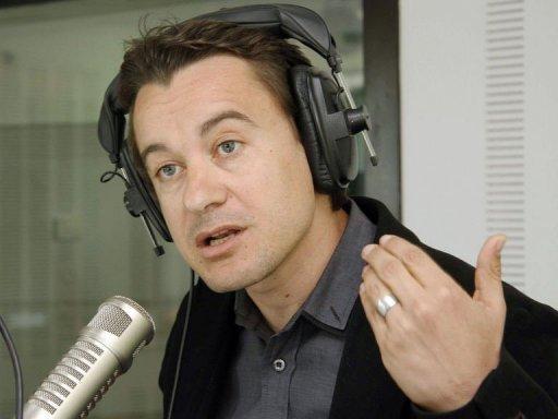 Sami Fehri, patron de la chaîne Ettounsiya TV, le 24 mars 2011 AFP/Archives Khalil