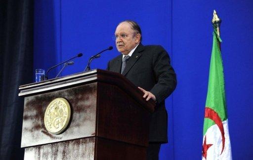 Le président algérien Abdelaziz Bouteflika le 8 mai 2012 à Sétif AFP/Archives Farouk Batiche