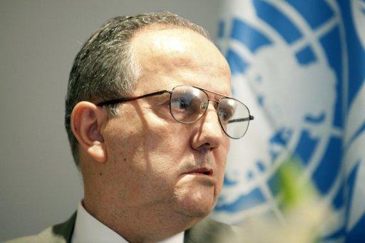 Le rapporteur spécial de l'ONU sur la torture, Juan Mendez, à Rabat le 22 septembre 2012 AFP Fadel Senna