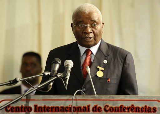 Le président du Mozambique Armando Guebuza à Maputo, le 18 août 2012 AFP/Archives Stephane de Sakutin