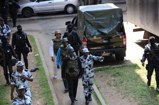 Le général Brunot Dogbo Blé, à son arrivée au tribunal à Abidjan, le 2 octobre 2012 AFP Sia Kambou