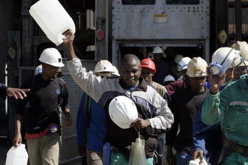 Des mineurs sud-africains AFP/Archives Gianluigi Guercia