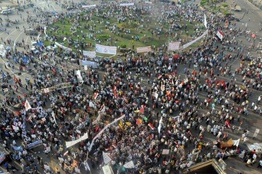 Manifestation place Tahrir, au Caire, le 19 octobre 2012 AFP Ahmed Mahmoud