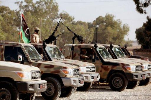 L'armée libyenne à Tripoli se prépare à un déploiement à Bani Walid, le 18 octobre 2012 AFP/Archives Mahmud Turkia