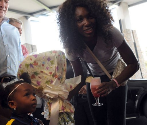 La joueuse de tennis Venus Williams, à son arrivée à Lagos, le 30 octobre 2012 AFP Pius Utomi Ekpei