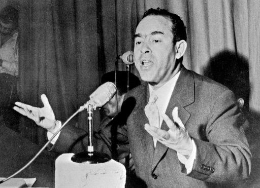 L'opposant marocain Mehdi Ben Barka en janvier 1959 à Casablanca AFP/Archives
