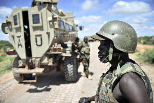 Des soldats ougandais en mission pour l'Union africaine en Somalie AU-UN/AFP/Archives Tobin Jones